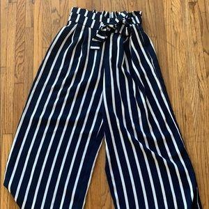 Zara wide legged striped pants